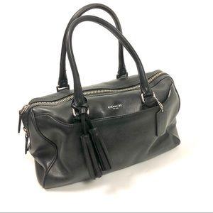 Coach Legacy black leather Haley satchel bag 23574